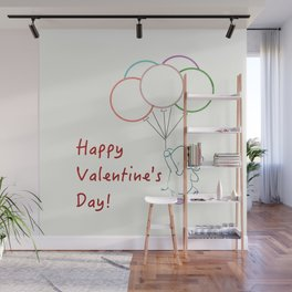 Happy Valentine's Day Elephant Wall Mural
