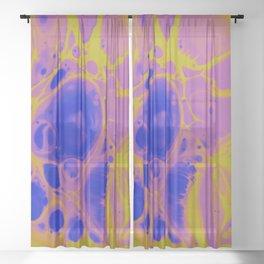 Lemon and Lavender Sheer Curtain