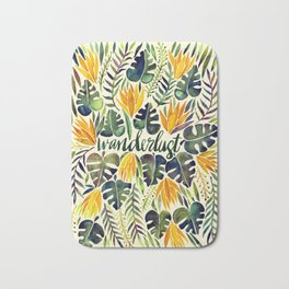 Tropical Wanderlust – Orange & Emerald Bath Mat