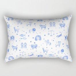 Blue Zodiac Rectangular Pillow