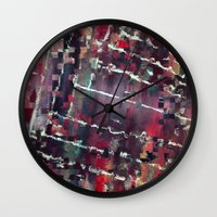code Wall Clocks featuring Code by MonsterBrown