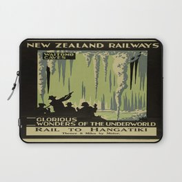 Vintage poster - Waitomo Caves Laptop Sleeve