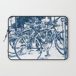 Blue Bicycles Laptop Sleeve