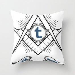 Tumblr Secret Society Throw Pillow