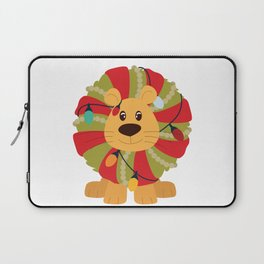 Your Big Cat in Decorative Christmas Wreath Laptop Sleeve