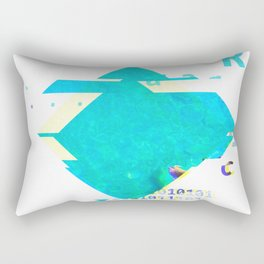 GLITCH NATURE #127: Tobermory Rectangular Pillow