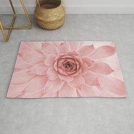 Pale Pink Succulent Rug