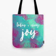 today i choose joy - watercolor pink Tote Bag