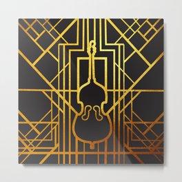 Art Deco Contrabass Metal Print