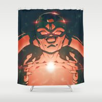 dragonball Shower Curtains featuring Frieza by Mikuloctopus