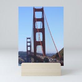 Golden Gate from Below Mini Art Print