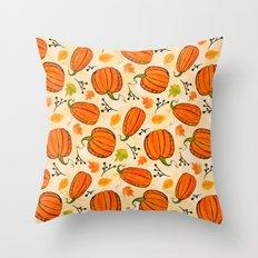 Pumpkins pattern I Throw Pillow