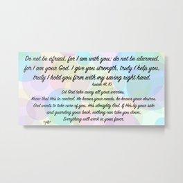 Color bubbles - Isaiah 41, 10 Metal Print