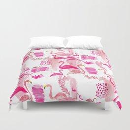 Pink Flamingos Pattern Duvet Cover