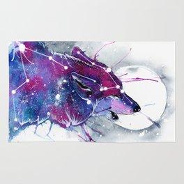 Galaxy Wolf Rug