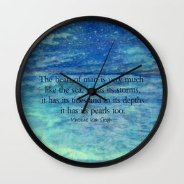 Inspirational ocean sea quote Wall Clock