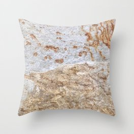Rust Detail Stone // Unique Textured Naturally Made Material Rocky Accent Throw Pillow