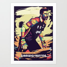Gianluigi Buffon on WPAP pop art Art Print