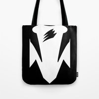 power ranger Tote Bags featuring Black Spirit Ranger by JoSumdac