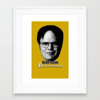 dwight Framed Art Prints featuring Dwight - Perfectenschlag by Thomas Rolfe