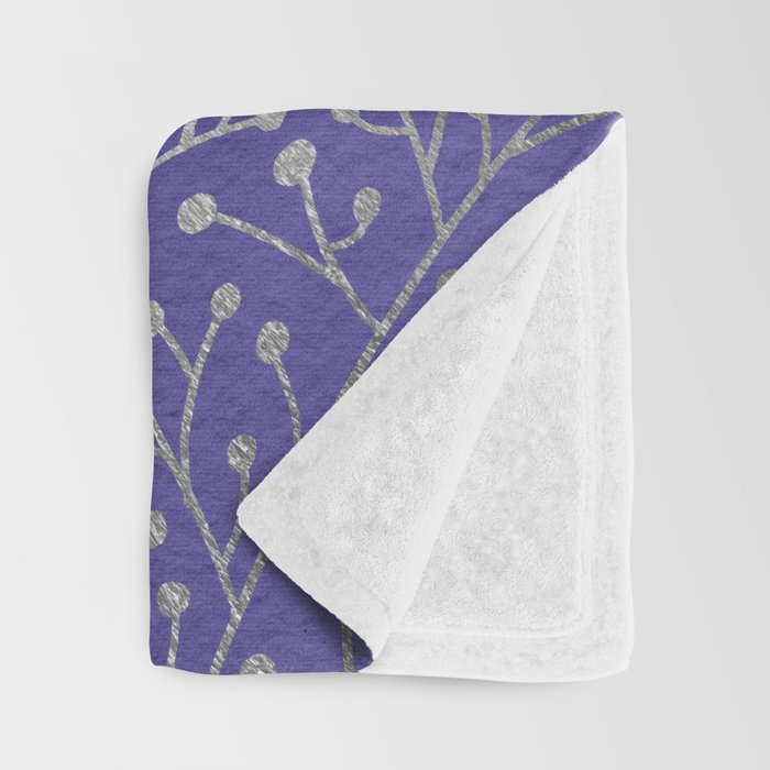 Periwinkle Berry Branches Throw Blanket By Catcoq Society40 Magnificent Periwinkle Throw Blanket