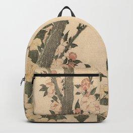 Hokusai, flowers of a cherry-tree- manga, japan,hokusai,japanese,北斎,ミュージシャン Backpack