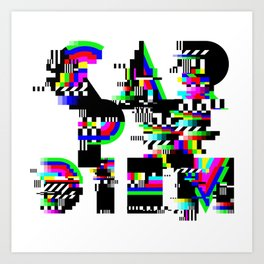 Carpe Diem #typography #lettering #glitchart #buyart #society6 Art Print
