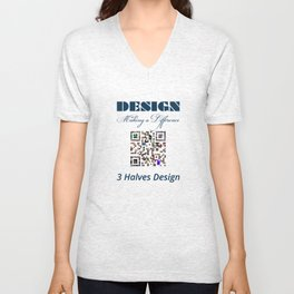 3 Halves Design Unisex V-Neck