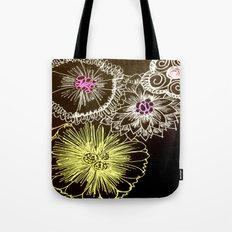 Colors in black Tote Bag