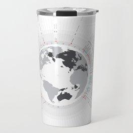 Typographic Timeline Travel Mug