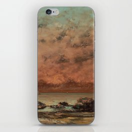 The Black Rocks at Trouville by Gustave Courbet iPhone Skin