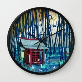 On my way to Mount Fuji Wall Clock