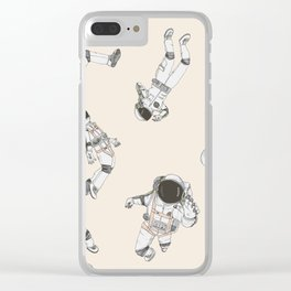 Astronaut Social Clear iPhone Case