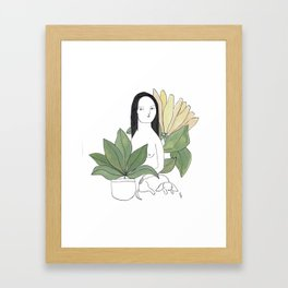 Terre verte Framed Art Print