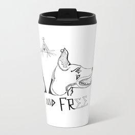 Brave & Free Metal Travel Mug