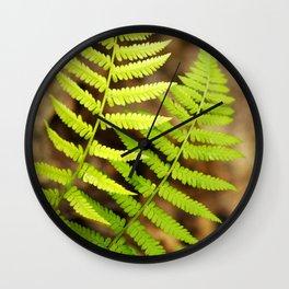 Spring Ferns Wall Clock