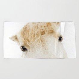 Silver Bullet - Icelandic horse Beach Towel