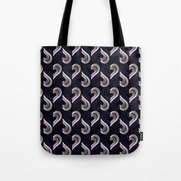 Demisexual Neon Hearts Tote Bag