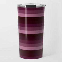 Burgundy stripes Travel Mug