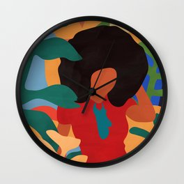 Get lost in nature and you will find yourself  #art print #abstract art Wall Clock