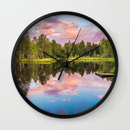 End of the summer day Wall Clock