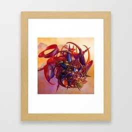 Sci-fi insect Framed Art Print