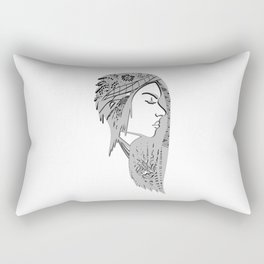 Zentangle portrat 1 Rectangular Pillow