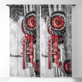 IH 240 Side View Selective Red Farmall Tractor Blackout Curtain