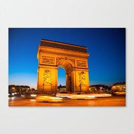 Arc de Triomphe // Paris, France Canvas Print