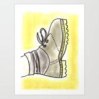 shoe Art Prints featuring shoe by yayanastasia