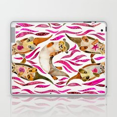 Otters – Pink Accents Laptop & iPad Skin