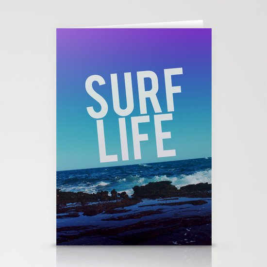 Surf Life Stationery Cards