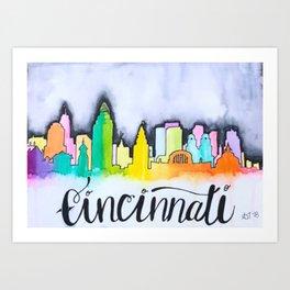 Cincinnati Skyline Art Print