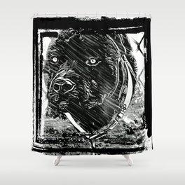 Pit Bull Models: Khan 02-02 Shower Curtain